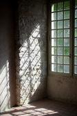 Window in old castle — Stock Photo