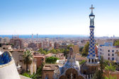 Barcelona landscape view from Gaudi — Stock Photo