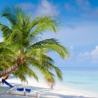 Beach on tropical island - Stock Photo