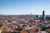 Barcelona landscape view from Sagrada Familia tower — Stock Photo