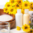 Close-up of products for spa and body care — Stock Photo