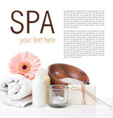 Products for body care and spa template — Stock Photo