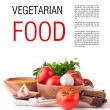 Vegetarian food isolated template — Stock Photo