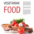 Vegetarian food isolated template — Stock Photo #13273630