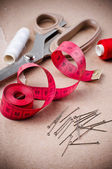 Tools for sewing and handmade — Stock Photo