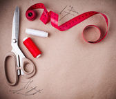 Tools for sewing and handmade — 图库照片