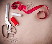 缝纫和手工工具 — 图库照片