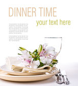 Table setting template — Stock Photo