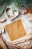 Noël et vacances de cuisson, prêt modèle — Photo