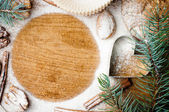 Christmas and holiday baking, ready template — Stock Photo