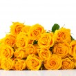 Bouquet of yellow roses isolated — Stock Photo #15840881