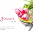 Festive spring table setting, ready template — Stock Photo #18528611