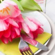 Festive spring table setting — Stock Photo #18528837