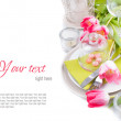Festive spring table setting, ready template — Stock Photo #18528859
