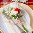 ������, ������: ��� Festive table setting with flowers and vintage crockery, closeup