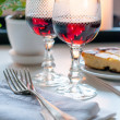 Two vintage glasses of red wine — Stock Photo