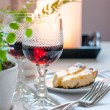 Two vintage glasses of red wine - Stock Photo