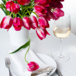 Stock Photo: Home table setting