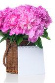 粉红色牡丹花束 — 图库照片
