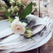 Vintage table setting with roses — Stock Photo #28951997