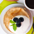 Healthy breakfast isolated — Stock Photo