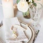Beautiful festive table setting — Stock Photo #31554735