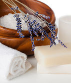 Products for bath, SPA, wellness and hygiene — Stock Photo