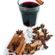 mulled wine, isolated — Stock Photo