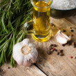 Rustic kitchen background — Stock Photo