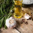 Rustic kitchen background — Stockfoto