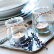 Provence style table setting — Stock Photo