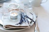 Provence style table setting — Stock Photo