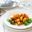 Appetizing and healthy vegetarian food — Stock Photo