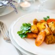 Stock Photo: Appetizing and healthy vegetarian food