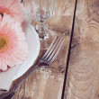 Vintage dining table setting — Stock Photo #35366865