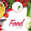 Stock Photo: Food background
