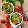 Vegetable salad with spinach — Stock Photo
