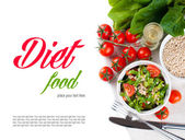 Vegan cuisine, food background — Stock Photo