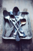 Vintage ornamented cutlery — Stock Photo