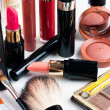 Stock Photo: Makeup and cosmetics set
