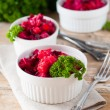 Stock Photo: Beetroot salad with parsley