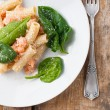 Rigatoni com frutos do mar — Foto Stock