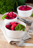Beetroot salad with parsley — Stock Photo