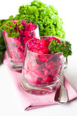 Vegan beetroot salad — Stock Photo