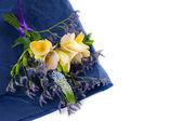 Yellow and purple flowers — Stock Photo