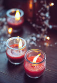 Home decorations, candles — Stock Photo