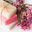 Handmade soap and cherry blossoms — Stock Photo #41049691