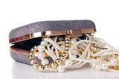 Jewelry in handbag — Stock Photo
