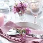 Festive wedding table setting — Stock Photo #41202715