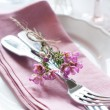 Festive wedding table setting — Stock Photo #41202577